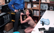 Milf Thief Pounded Hard By Security Guard