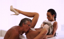 Daddy can i pee first time Finally she's got her boss dick