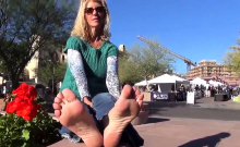 Foot fetish fucking with this sexy little blonde