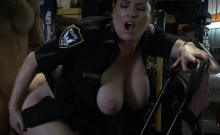 Milf cops suck on chop shop owners big cock deep and hard