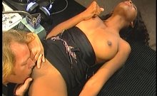 Horny Lesbians hitting it off at the office