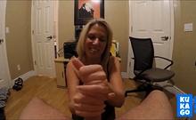 Virtual handjob blowjob for her fans