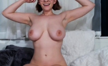 BUSTY GIRL WITH LACTATING NIPPLES
