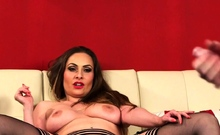 Kinky milf domina teases