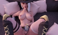 Animated Shy Ashe with Huge Round Booty - Compilation