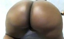 Big Ebony Chick Teases Her Huge Booty