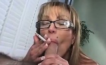 Mature Whore Sucks Cock